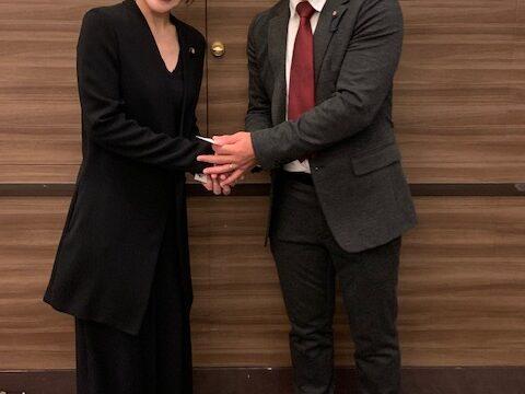 記念講演で内閣府大臣政務官参議院議員今井絵理子さんのお話しを拝聴しました。